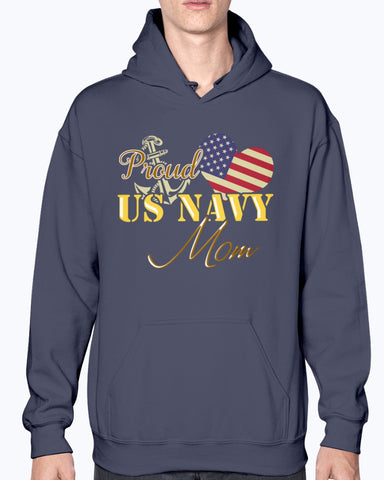 Proud Navy Mom Star Heart T-shirts