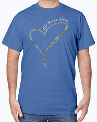 Proud US Air Force Mom Camo Heart T-shirts