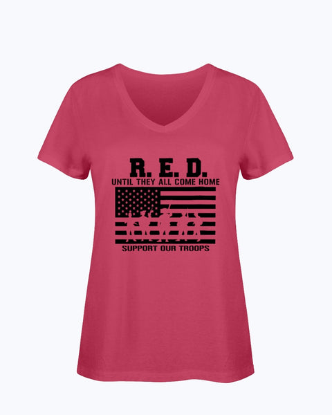 Red Until They All Come Home T-shirts