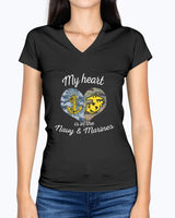 Navy Marine Mom My Heart T-shirts