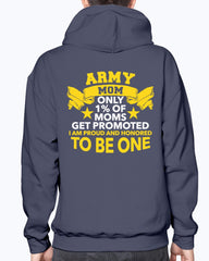 Proud Army Mom 1% Promoted T-shirts