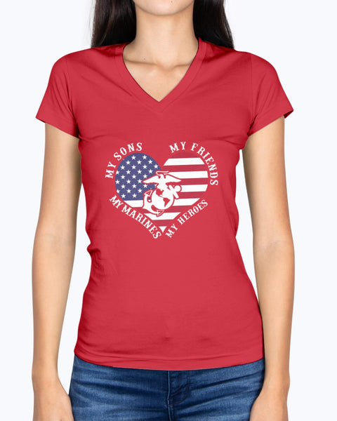 Proud Marine Mom My Friends Heroes T-shirts