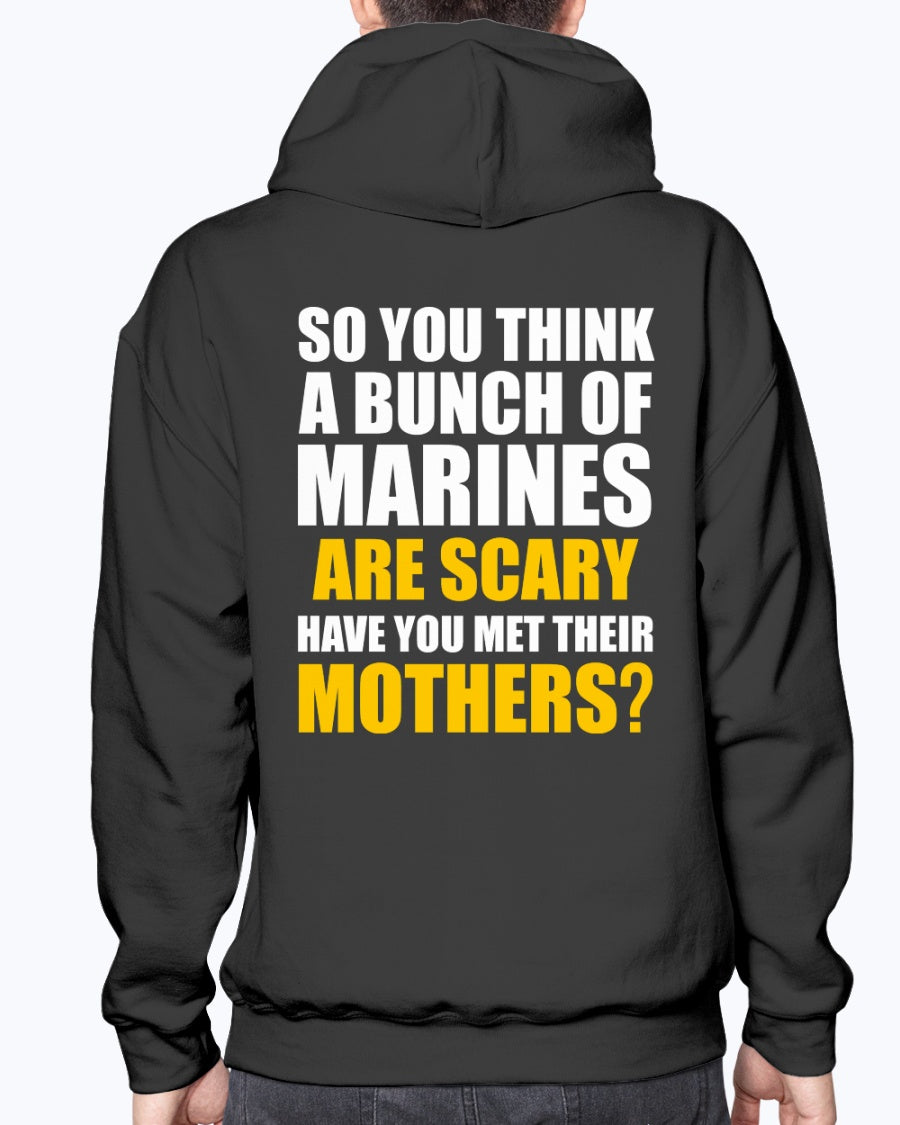 Proud Marine Mom Scary T-shirts