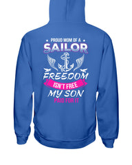 Freedom Isn't Free Navy Mom T-shirts