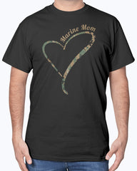 US Marine Mom Camo Heart T-shirts