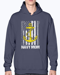 Proud Navy Mom Flag Plus T-shirts