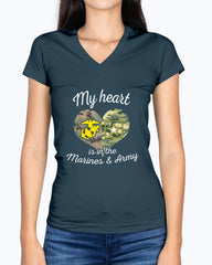 Proud Marine Army Mom My Heart T-shirts