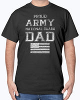 Army Flag National Guard Dad T-shirt