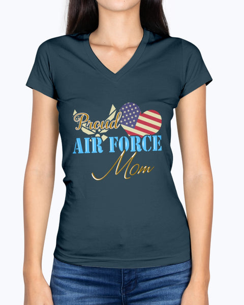Proud Air Force Mom Star Heart T-shirts