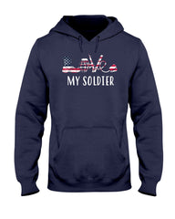 Love My Soldier Army Mom Flag T-shirts
