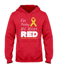 RED Friday We Wear Ribbon T-shirts