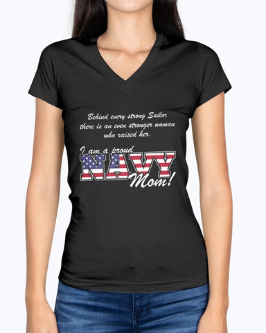 Proud Navy Mom Behind Daughter T-shirts