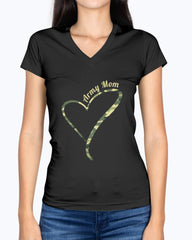 Proud Army Mom Camo Heart T-shirts