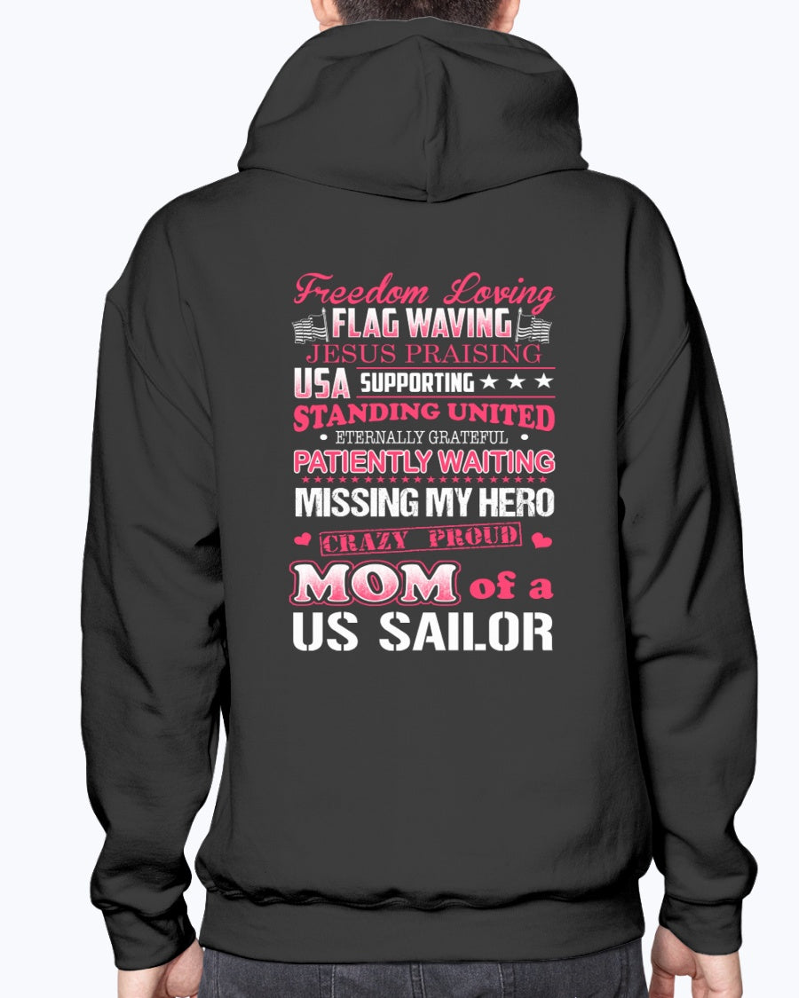 Crazy Proud Navy Mom of US Sailor T-shirts