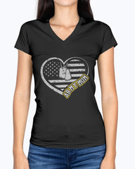 Proud Army Mom Heart Flag T-shirts
