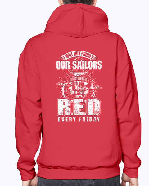 Red Friday Navy Mom Not Forget T-shirts