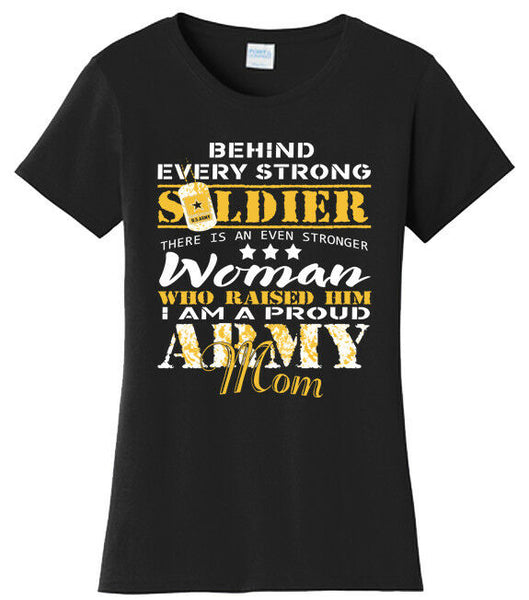 Army Mom Stronger T-shirts
