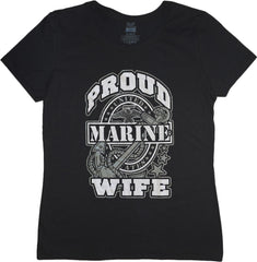 US Proud Marine Wife T-shirts