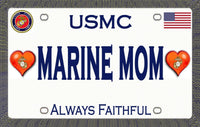 Marine Mom Magnetic Car Sign