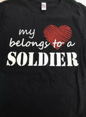 Army Wife Mom My Heart Belongs To A Soldier T-shirts