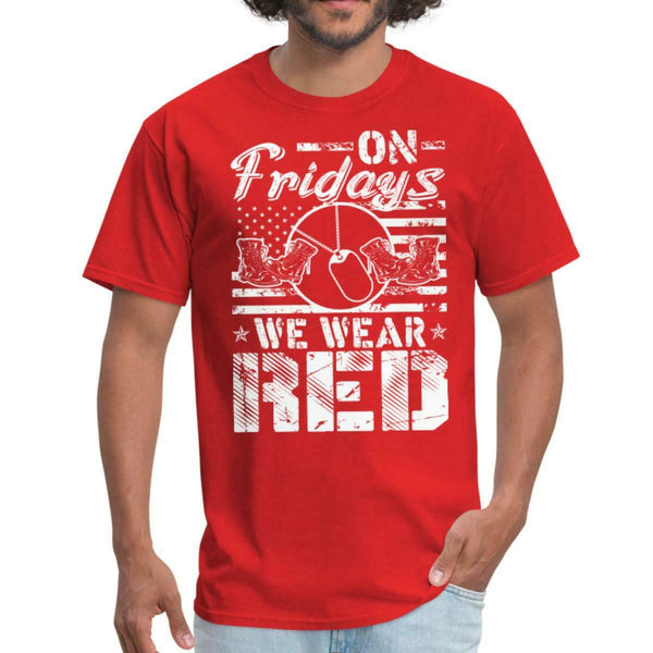 USA On Fridays We Wear Red T-shirts