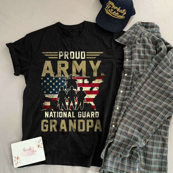 Proud Army National Guard Grandpa T-shirts