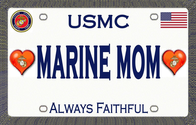 Marine Mom Magnetic Car Sign - MotherProud