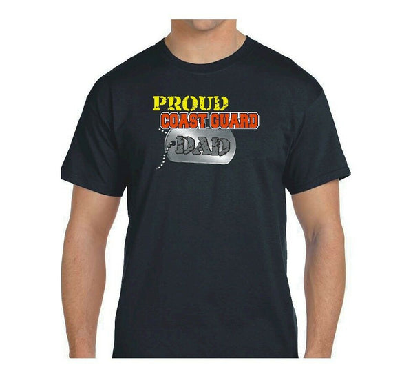 Proud Coast Guard Dad Dog Tag T-shirts