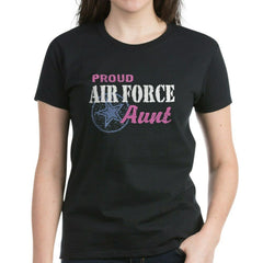 Proud Air Force Aunt Star T-shirts