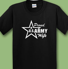 Proud US Army Wife T-shirts