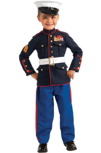 Brand New Military Marine Dress Blues Outfit Child Costume