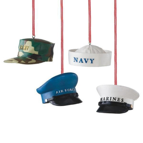 Military Hat Christmas Ornaments