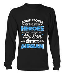 Air Force Mom Believe In Heroes T-shirts