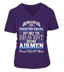 Air Force Mom Created Equal T-shirts