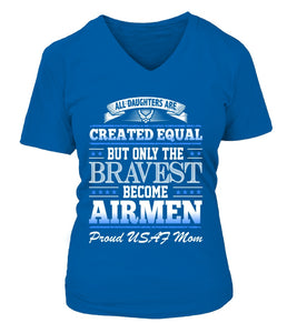 Air Force Mom Daughter Created Equal T-shirts - MotherProud