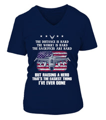 Air Force Mom Easy Raising Hero Front T-shirts