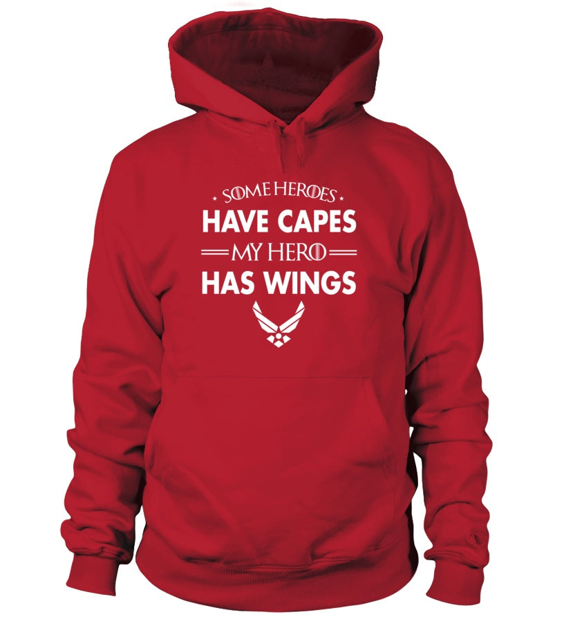 Air Force Mom My Hero Has Wings T-shirts - MotherProud