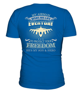 Air Force Mom Protects Your Freedom T-shirts - MotherProud