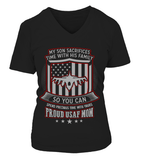Air Force Mom Son Sacrifices T-shirts - MotherProud
