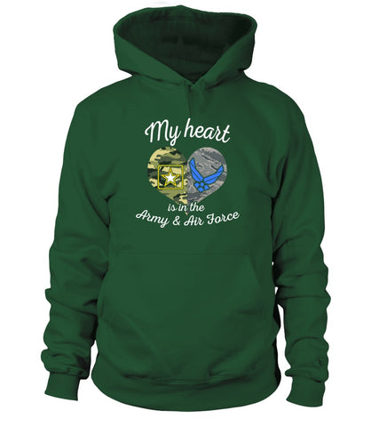 Army & Air Force Mom My Heart T-shirts