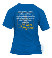 Army Mom Always Miss Him T-shirts