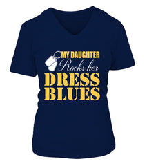 Army Mom Daughter Rocks Dress Blues T-shirts