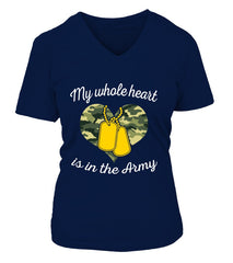 Army Mom My Whole Heart T-shirts