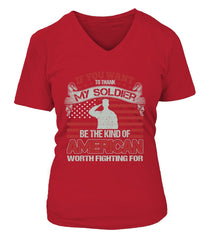 Army Mom Thank My Soldier T-shirts