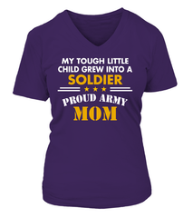 Army Mom Tough Little Child T-shirts