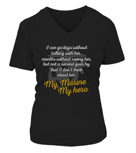Shirt - Marine Mom Always Miss Her Front T-shirts