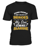 Shirt - Marine Mom Believe In Heroes T-shirts