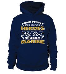 Marine Mom Believe In Heroes T-shirts