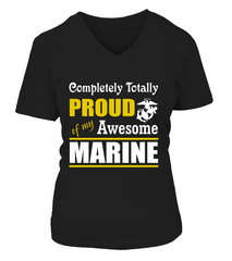 Marine Mom Completely Totally T-shirts