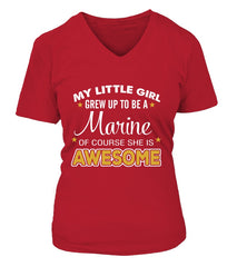 Marine Mom Daughter Awesome T-shirts